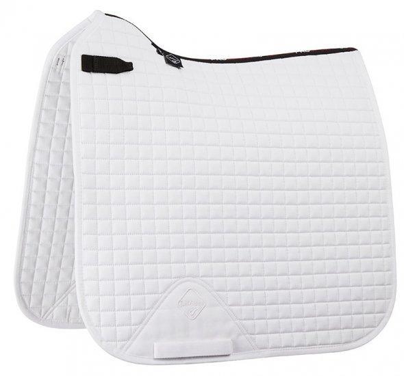 LeMieux ProSport Suede Dressage Square White-Full Size
